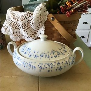 Vintage Sheffield compote bowl with double handles